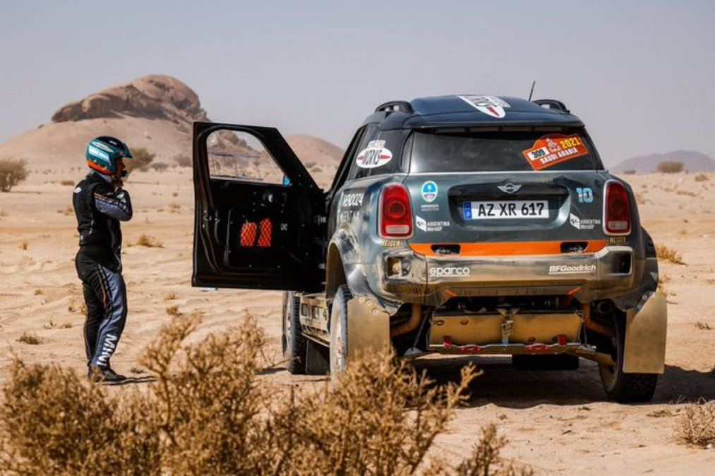 Orly Terranova no pudo correr la sexta etapa del Dakar 2021.