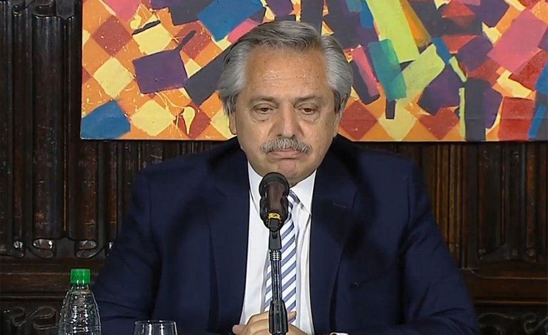 Alberto Fernández se mostró confiado con la llegada de vacunas.
