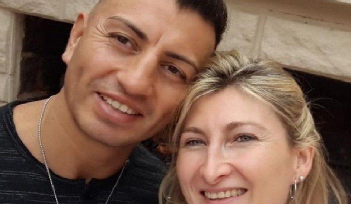 Simón Llanos junto a Analía Maldonado. Otros tiempos.