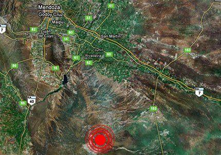Tembló en Mendoza y el epicentro se ubicó al sudeste de Tunuyán