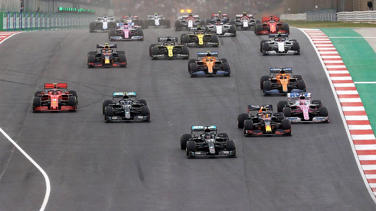 Bottas, Verstappen y Pérez, los mejores en Algarve