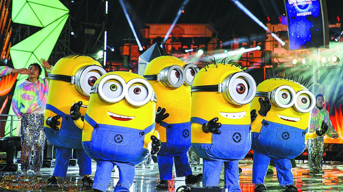 Los Minions presentes en una gala en el Universal Beijing Resort. PARA USO DE CHINA DAILY