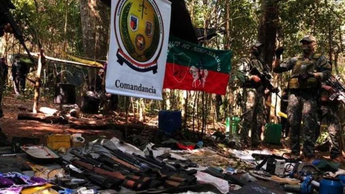 Imágenes del campamento del grupo de guerrilla EPP donde fueron asesinadas dos niñas argentinas por un grupo militar conjunto del gobierno de Paraguay.