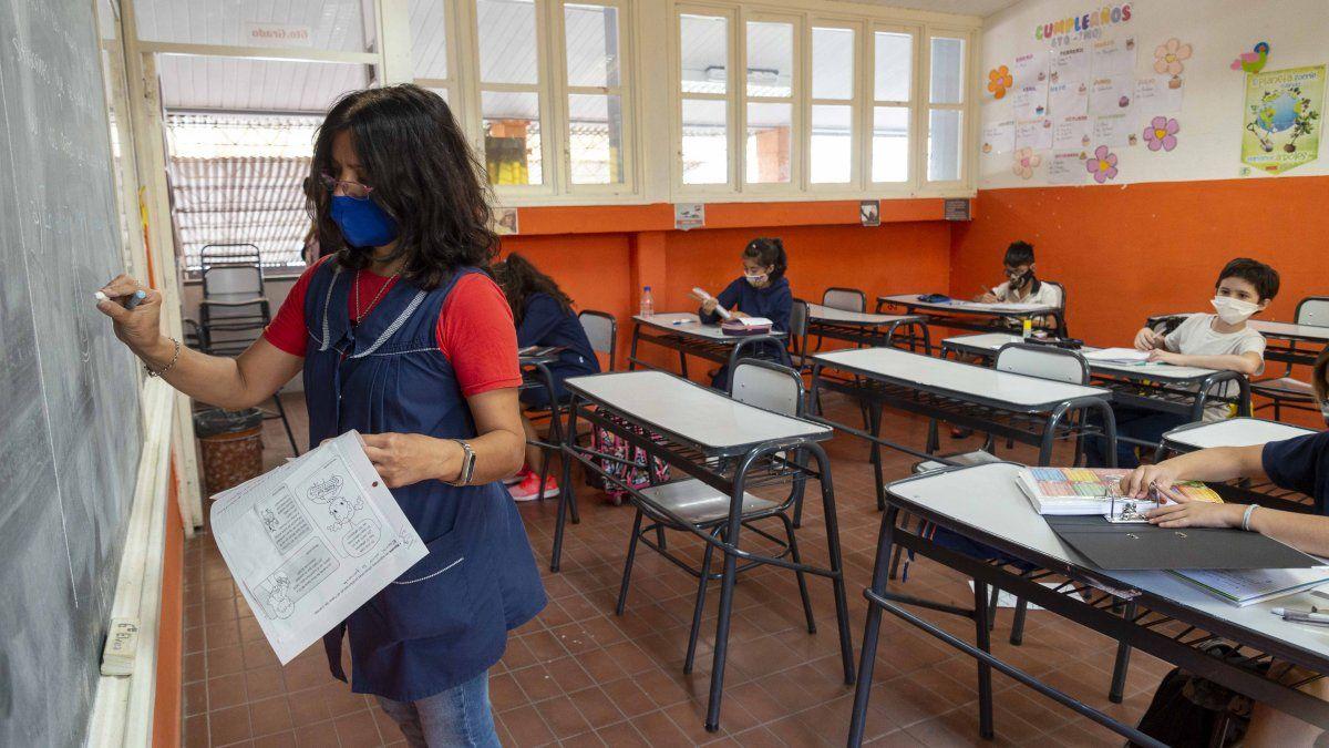 En fotos: la vuelta a clases en Mendoza a un año del cierre de las escuelas