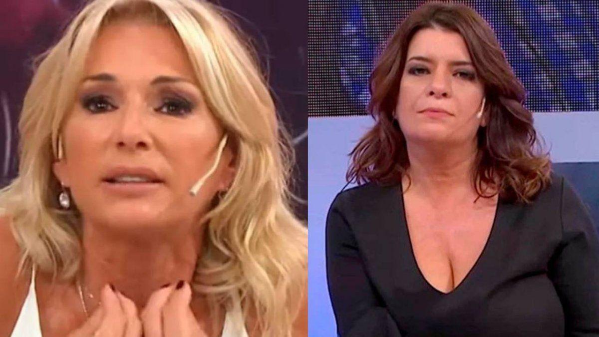 Tremendo cruce entre Yanina Latorre y Andrea Taboada.