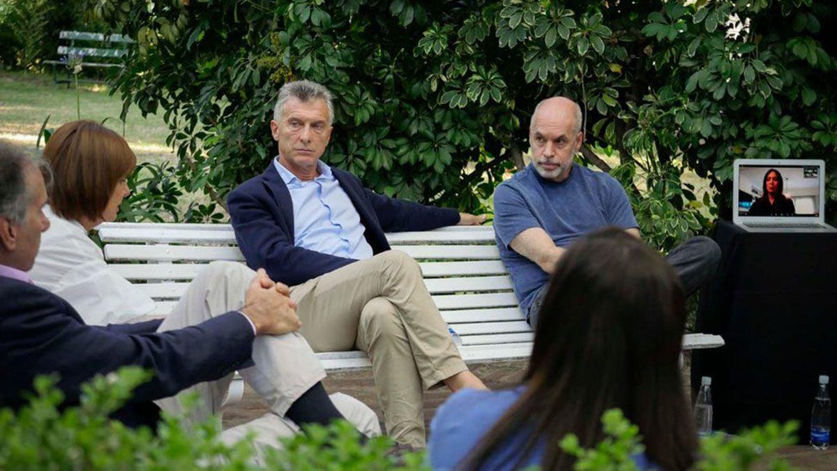 El PRO realizó un encuentro presencial en el que participaron Macri y Larreta.