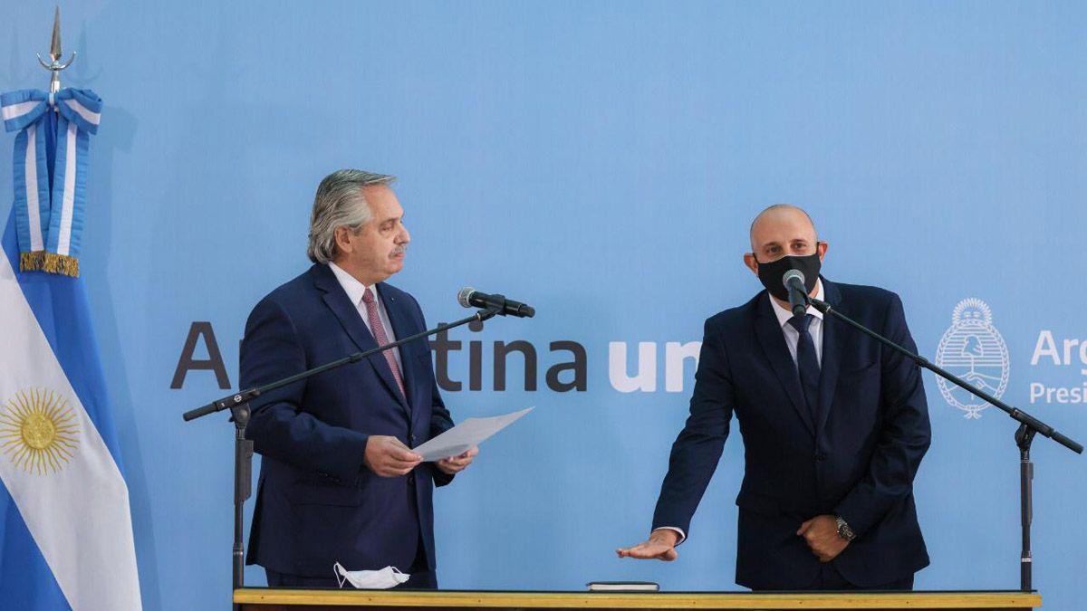 El presidente Alberto Fernández le tomó juramento al nuevo ministro de Transporte de la Nación