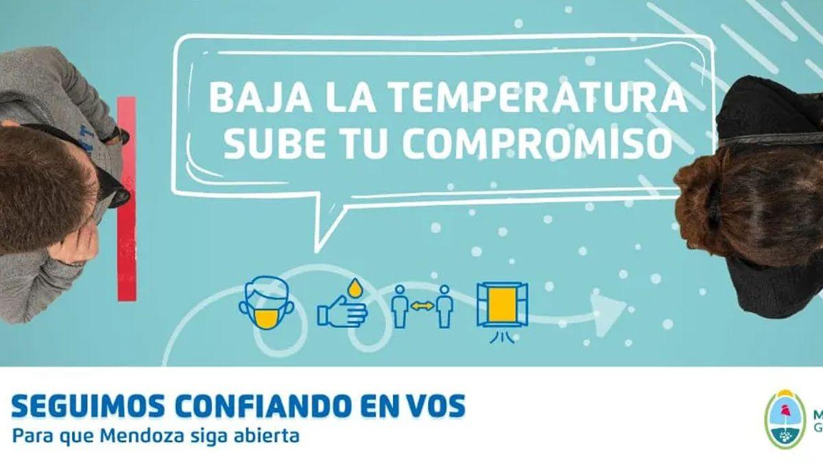 El gobierno mendocino apostará a una campaña que incentivará el cuidado individual para mantener a Mendoza abierta.