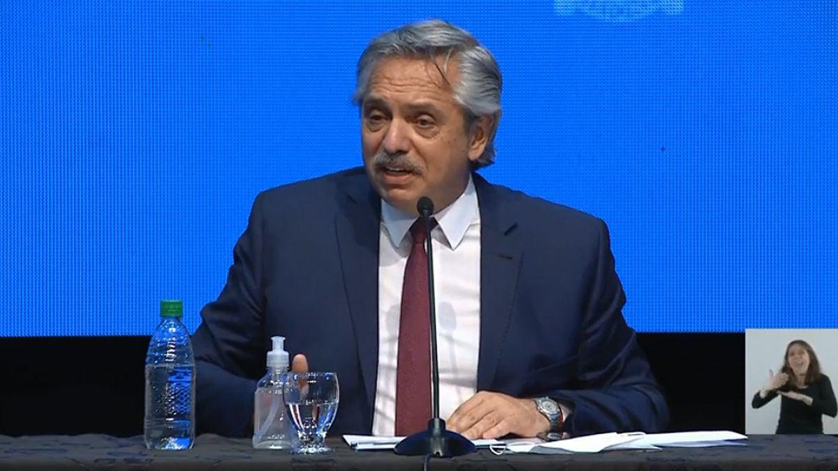 Alberto Fernández habló de la vacuna.
