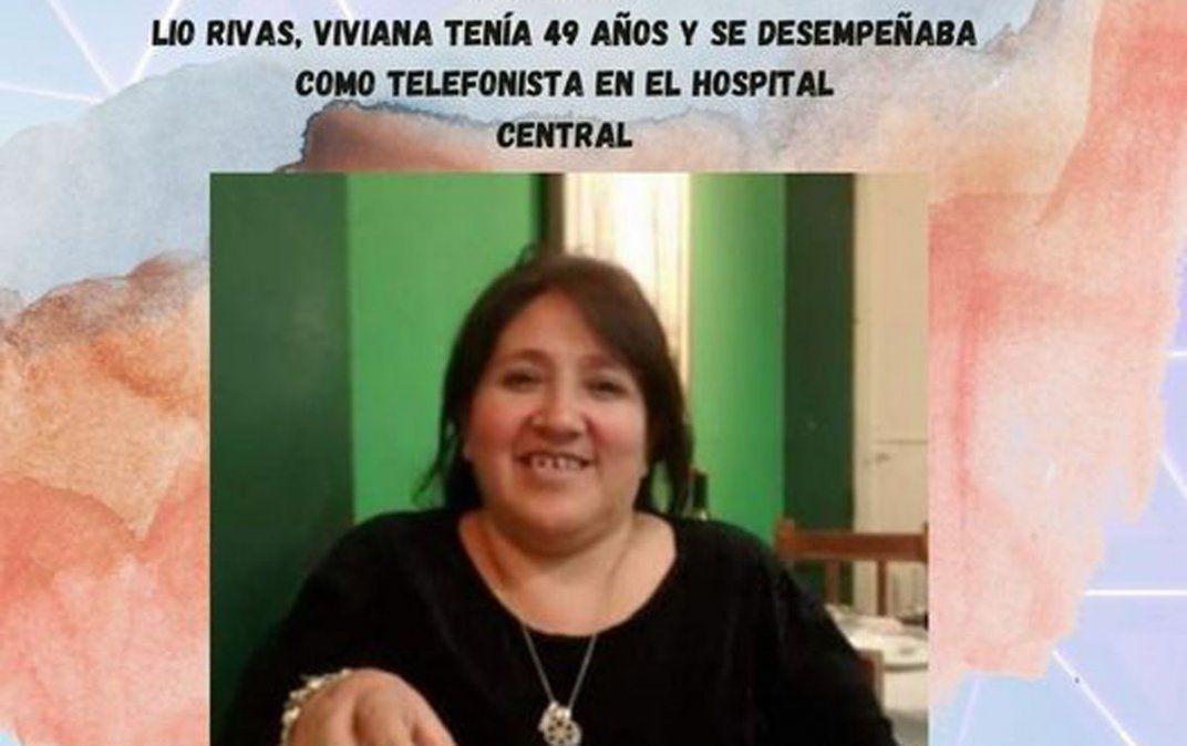 Trabajadora del Hospital Central. Vivi Ríos era muy querida.