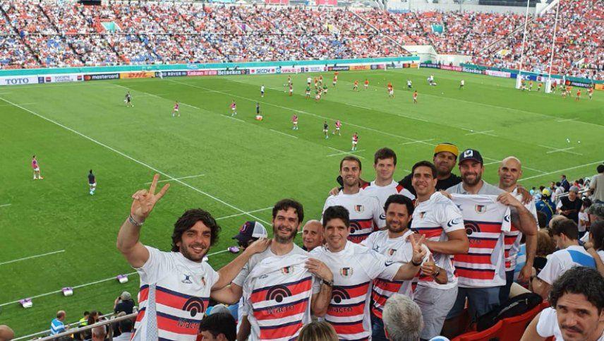 Los hinchas argentinos coparon el estadio de Hanazono