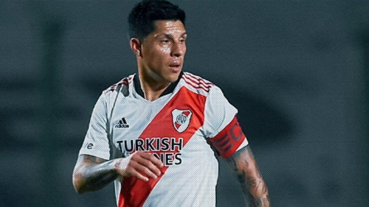 Enzo Pérez fue capitán, líbero y goleador de River.
