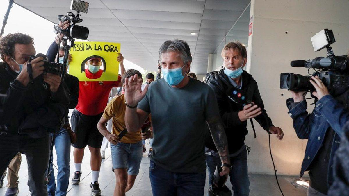 Jorge Messi y Bartomeu tuvieron una reunión acalorada