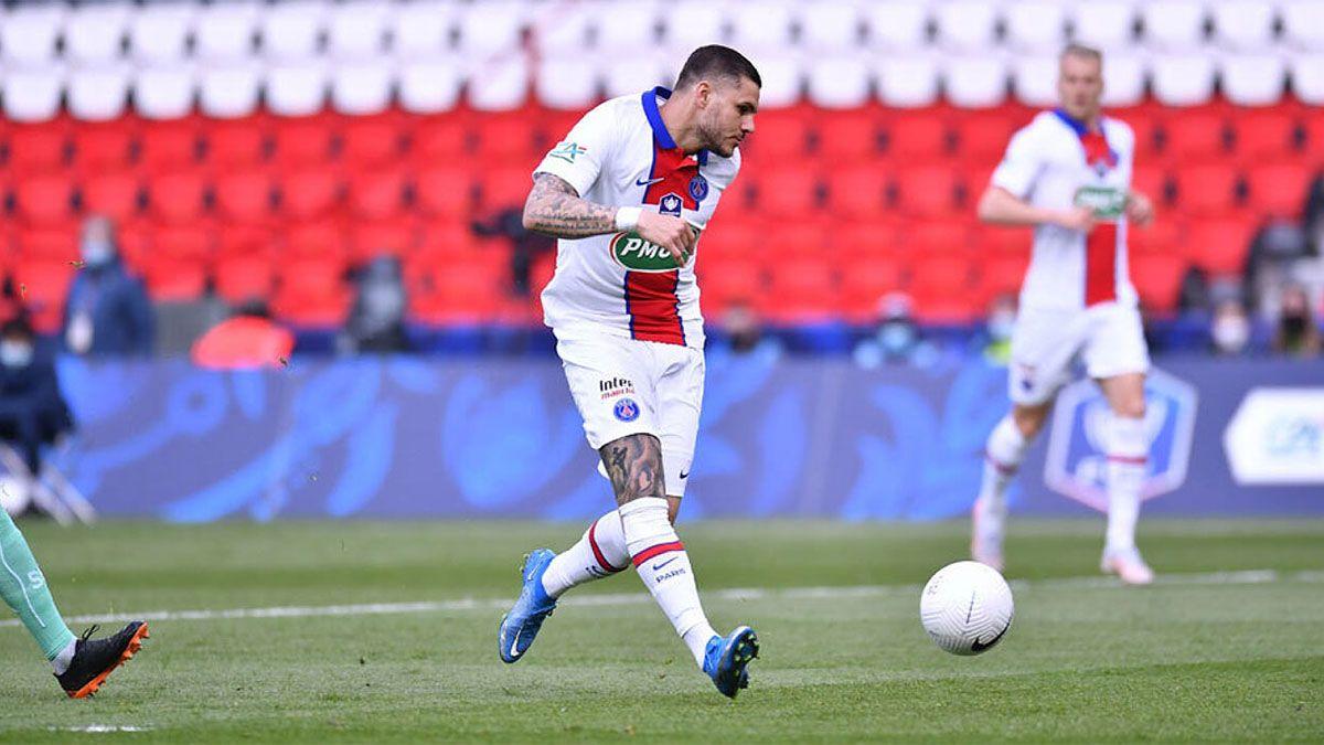 Mauro Icardi, intratable en la goleada de PSG