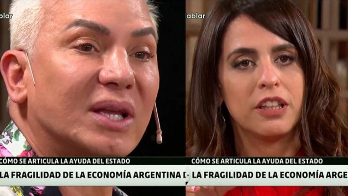 Flavio Mendoza y Voctoria Donda mantuvieron un duro cruce por la actualidad y la mala situación que atraviesa la gente del teatro