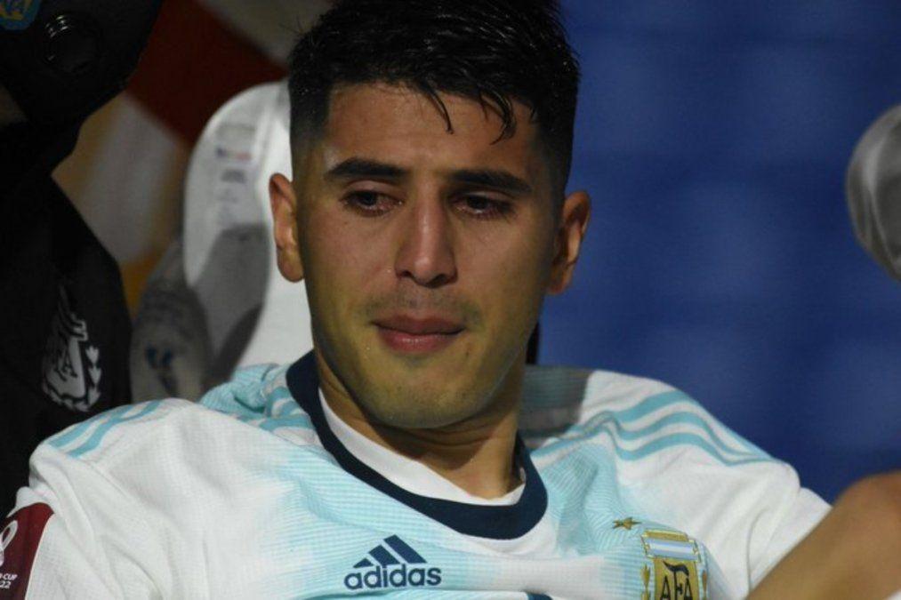 Exequiel Palacios sufrió una severa lesión lumbar.