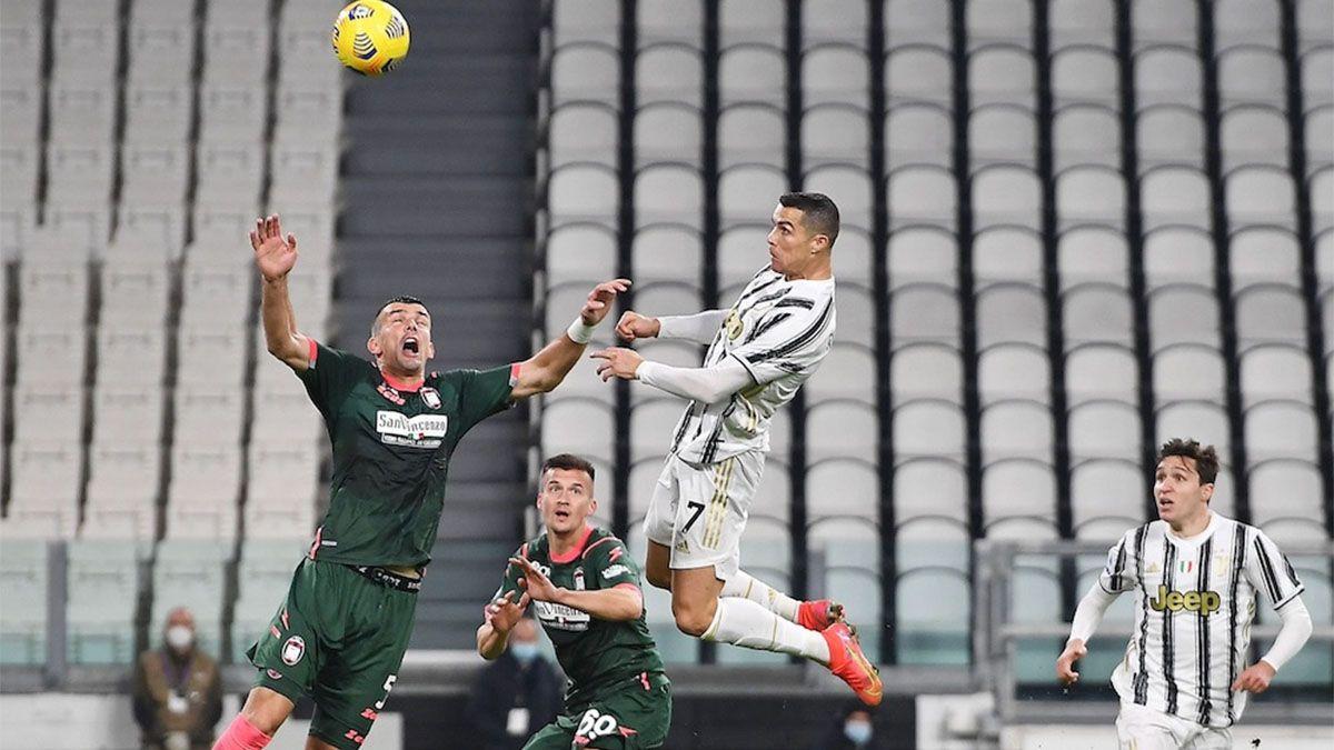 Juventus ganó con un doblete de Cristiano Ronaldo
