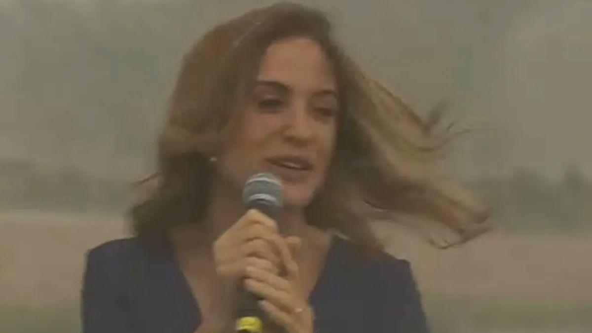 El video viral de Victoria Tolosa Paz en medio del viento