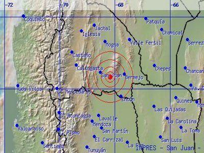 Se sintió en Mendoza un sismo con epicentro en San Juan de de 4 grados en la escala Mercali modificada