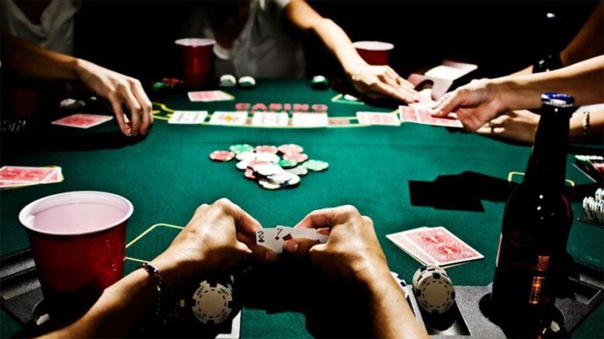 En una casa de Luján funcionaba el casino clandestino.