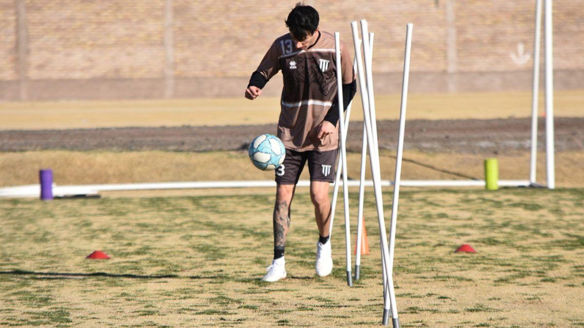 Santiago López se mostró contento por la vuelta a los entrenamientos.