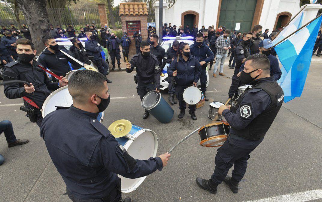 Protesta policial.