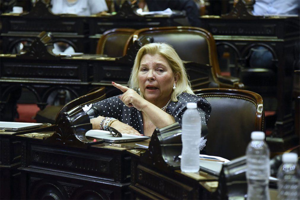 La ex diputada nacional Lilita Carrió contó con la colaboración de la periodista e historiadora Cecilia De Francesco para su libro Legado (1994-2020). Foto: NA.