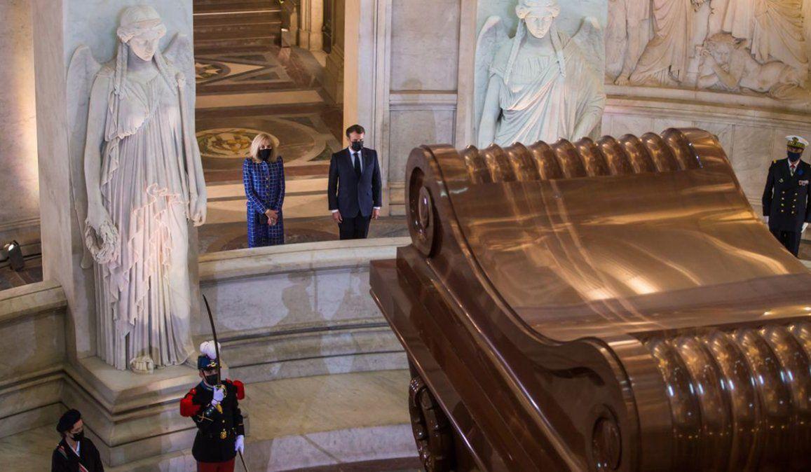 El presidente de Francia Emmanuel Macon destacó la figura de Napolén al afirmar quedio sustancia a nuestra organización política y administrativa