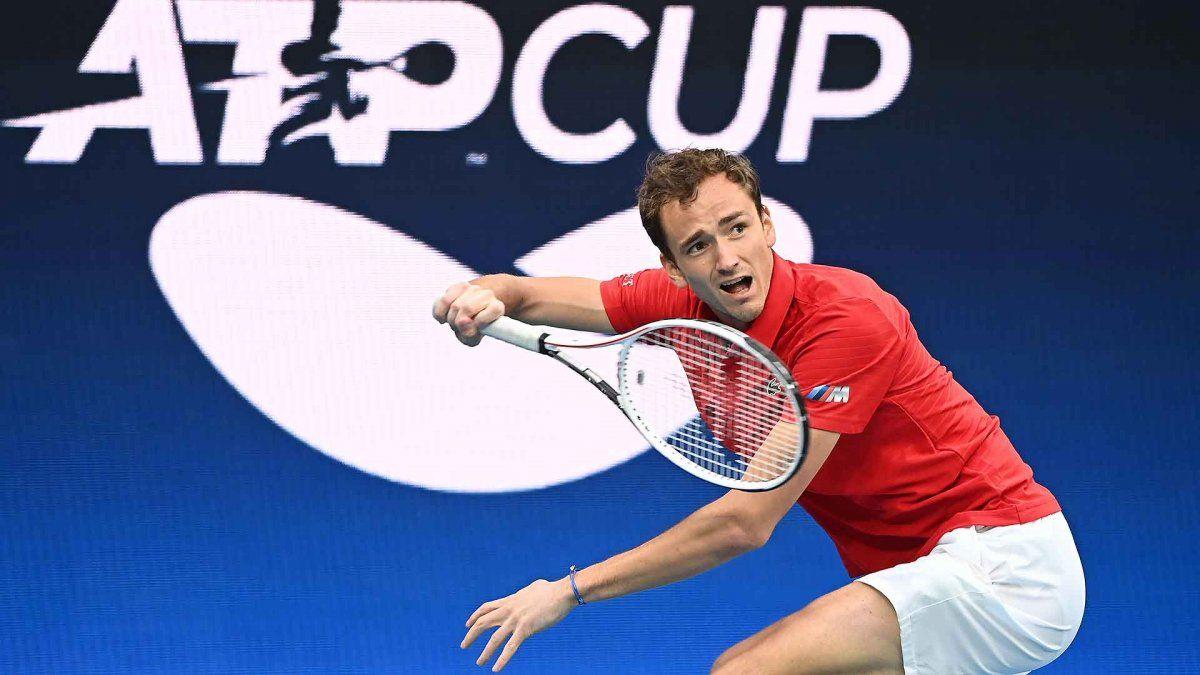 ATP Cup: Argentina no pudo con Rusia
