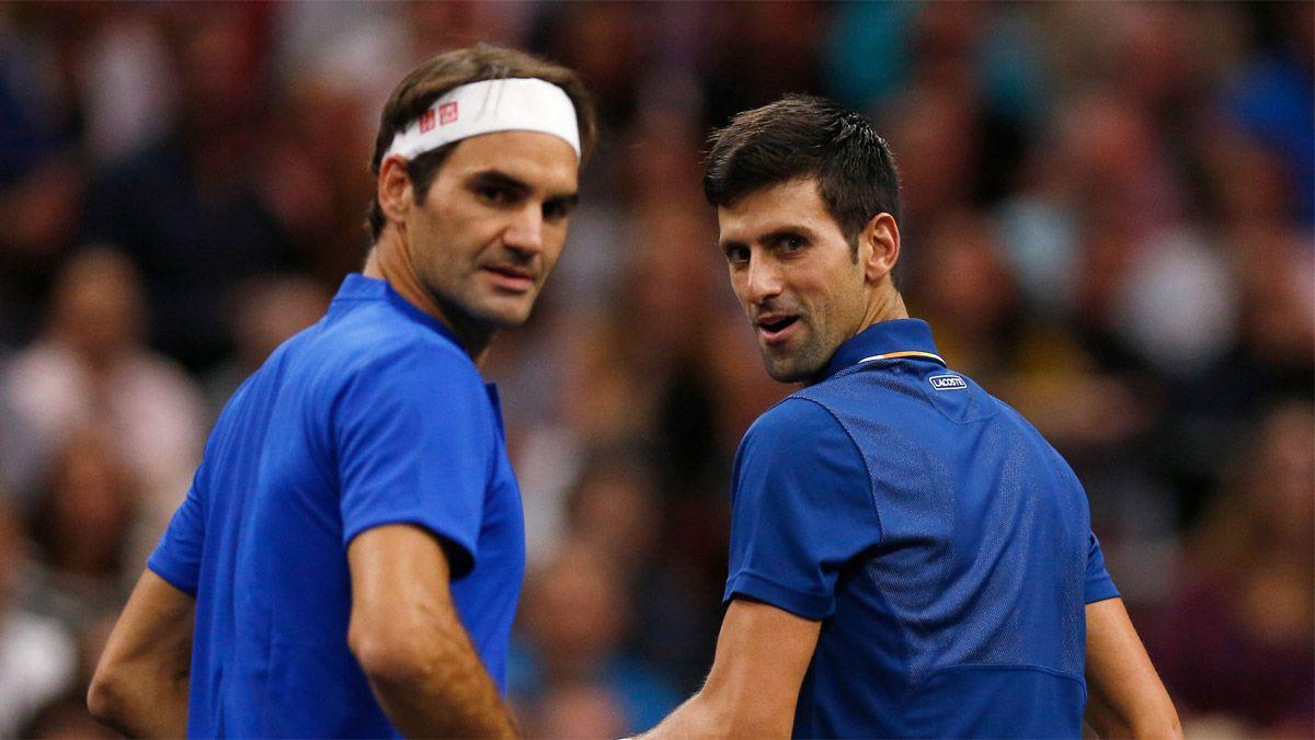 Djokovic, a la altura de Federer