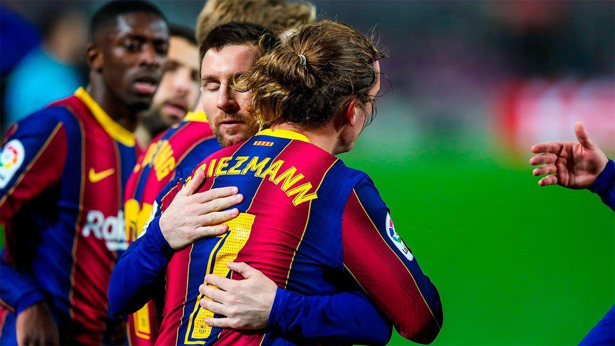 Messi y Griezmann llevaron al Barcelona a un nuevo triunfo