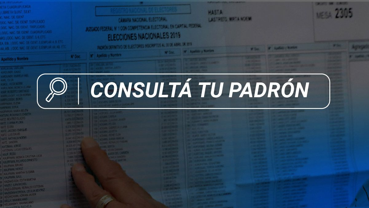 Dónde voto en las PASO 2021: padrón electoral por DNI