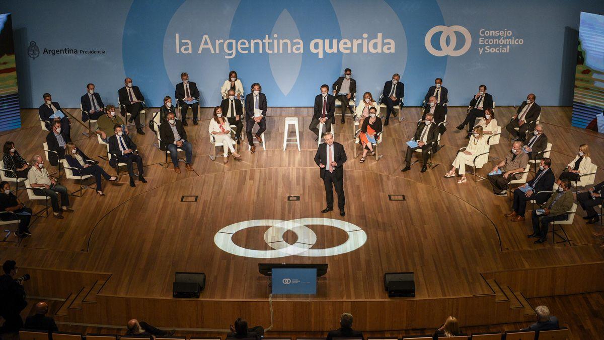 El presidente Alberto Fernández presentó este viernes el Consejo Económico y Social.