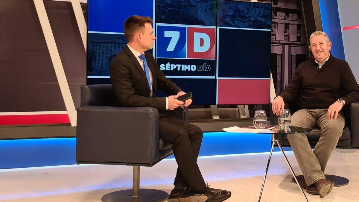 Julio Cobos estuvo en Séptimo Día, el programa político de Canal 7.