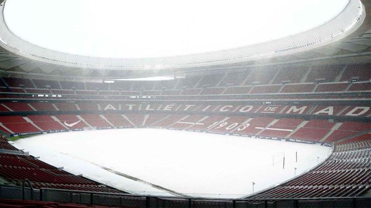 El Atlético de Simeone no jugará ante Bilbao a causa de una tormenta de nieve.