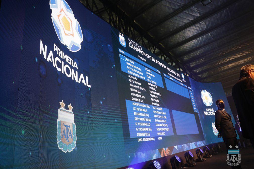 Primera Nacional: se sorteó el nuevo torneo