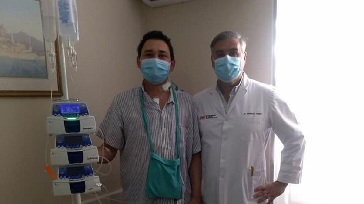 Ramiro junto al doctor Manuel Rodríguez