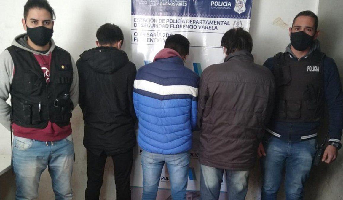 Tres de los cuatro detenidos por atacar a golpes y puñaladas a un adolescente de 17 años