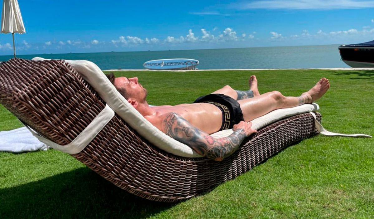 Un merecido momento de relax para Lionel Messi en Miami.