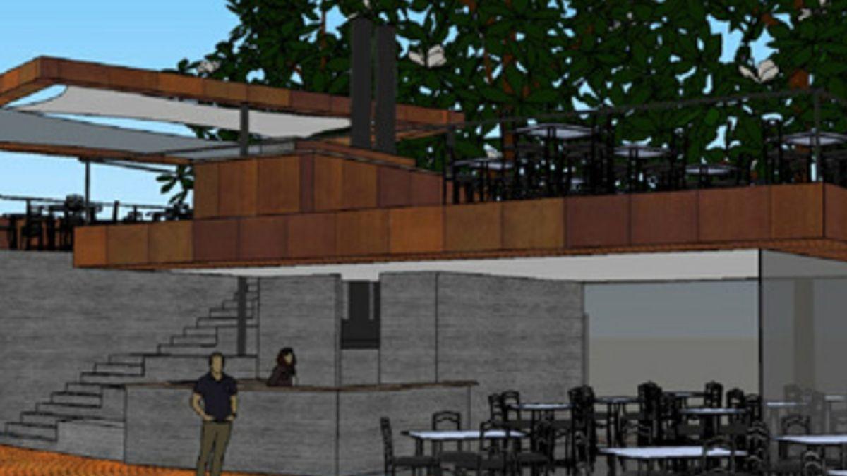 La unidad de servicios en el Cerro de la Gloria tiene previsto un restorán.