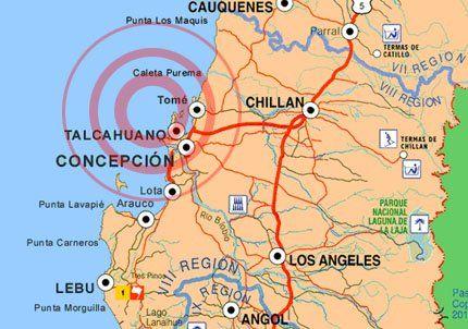 Otro fuerte temblor sacudió Chile a 53 km. del epicentro del terremoto