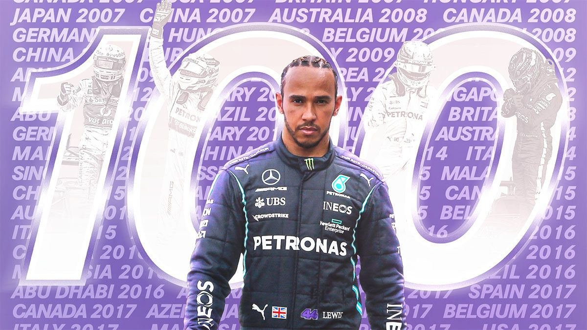 ¡Grandioso! Hamilton completó el centenar de poles