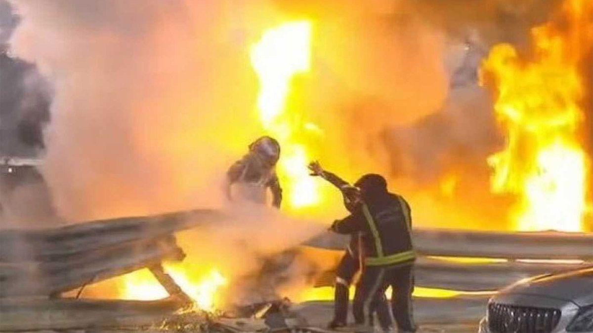 Grosjean: Los que me rescataron fueron héroes