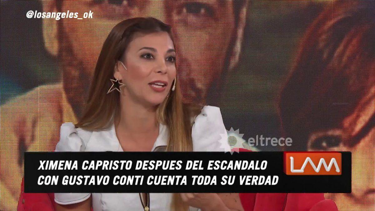 Ximena Capristo reveló quién era la mujer de los comprometedores chats de Gustavo Conti