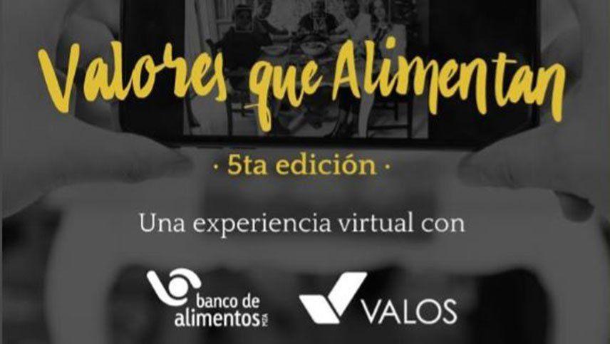 Valores que Alimentan: llega en formato virtual la V cena anual de Banco de Alimentos Mendoza y Valos