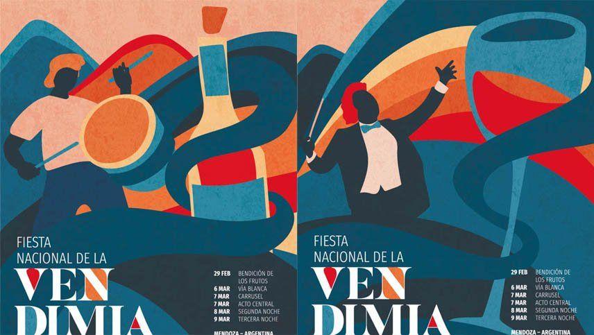 Se dieron a conocer los afiches de la Fiesta de la Vendimia 2020