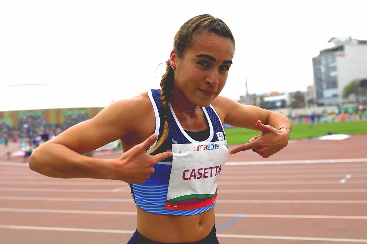 Belén Cassetta acompañará a Germán Chiaraviglio en el equipo de atletismo.