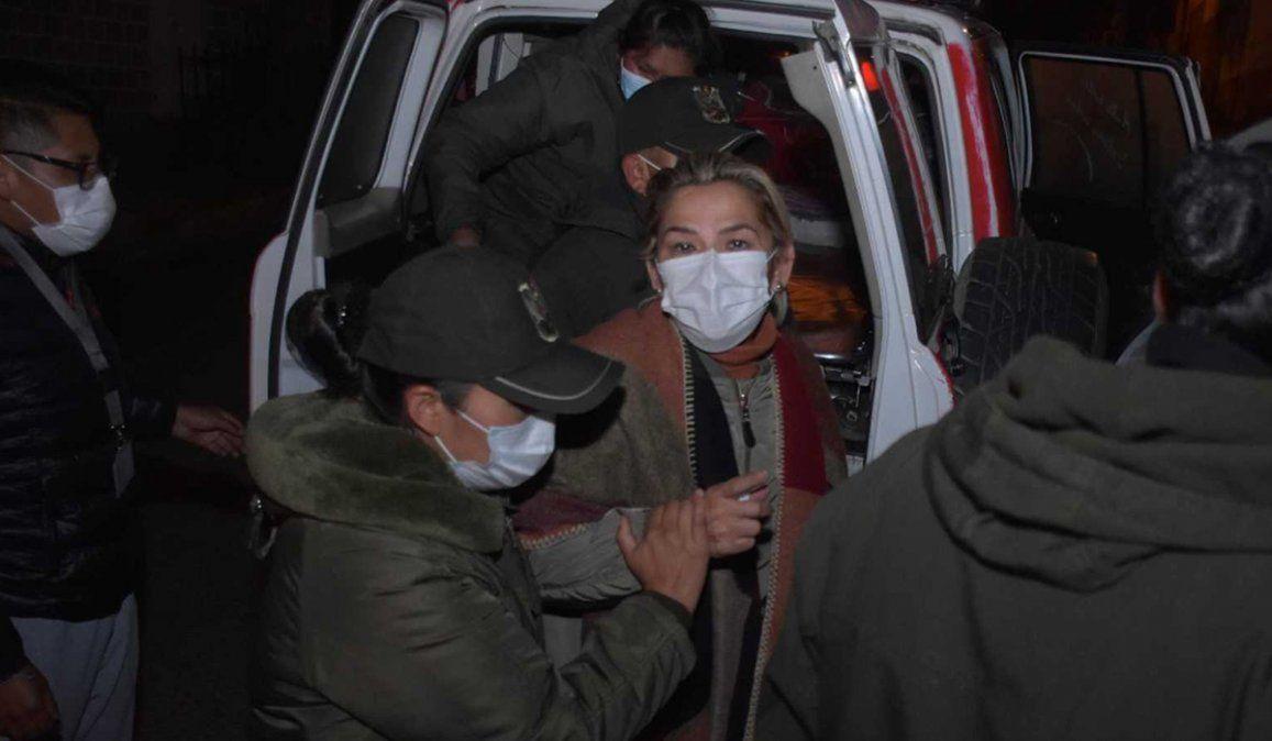 El expresidenta de facto Jeanine Áñez está detenida con prisión preventiva por seis meses para mujeres en las afueras de La Paz