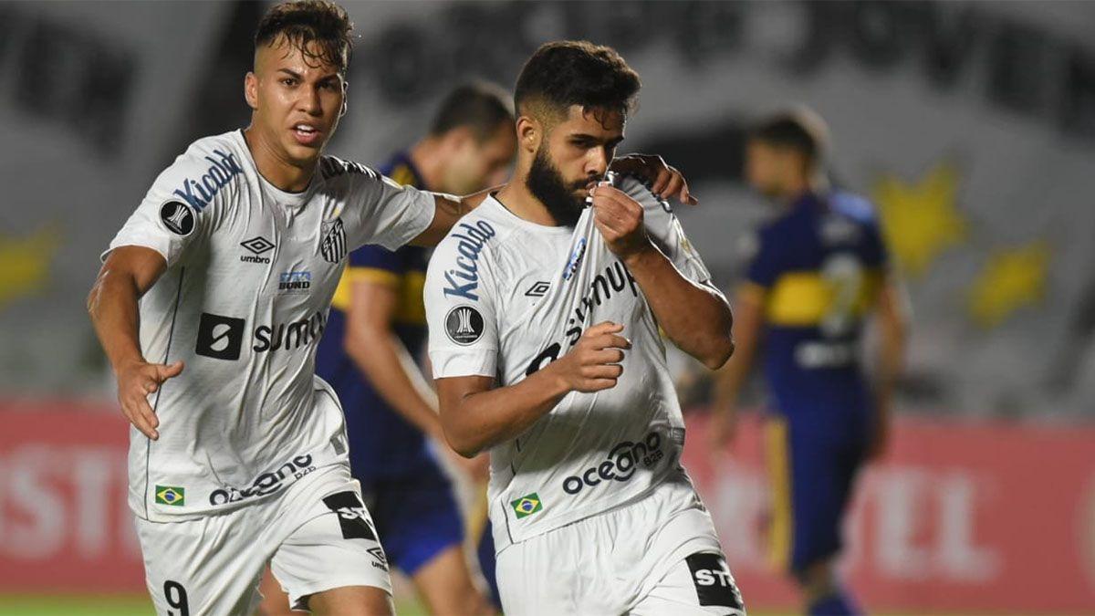 Antes del Superclásico, Boca cayó ante Santos