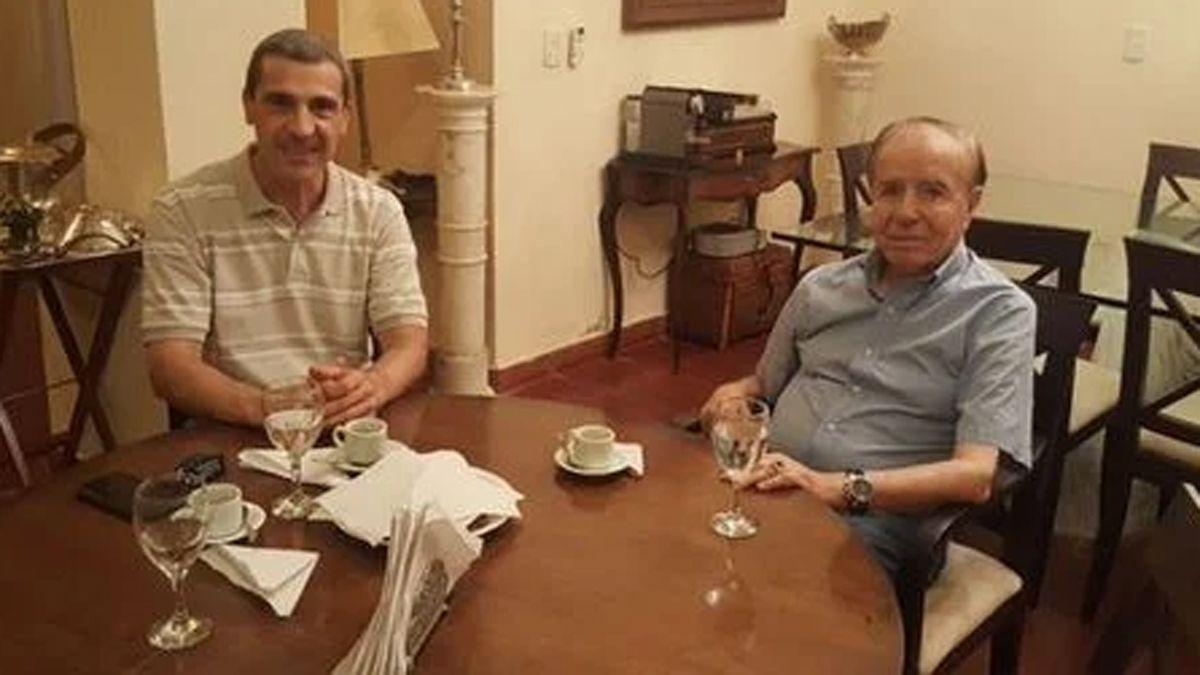 Ricardo Guerra junto a Carlos Menem.